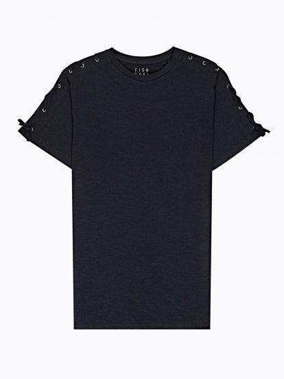 Długa koszulka ze sznurowaniem