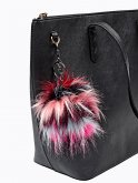 COLOURFUL POMPOM KEY RING
