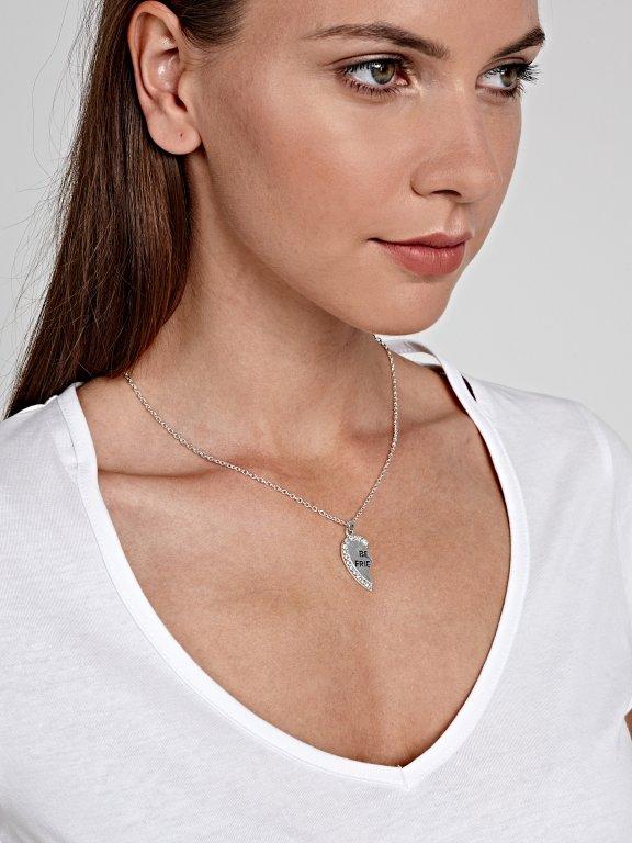 2-pack best friends necklaces set