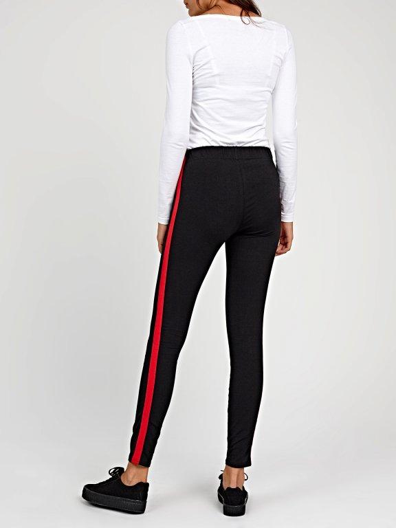 Leggings with contrast side stripe