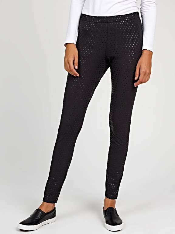 Polka dot print leggings