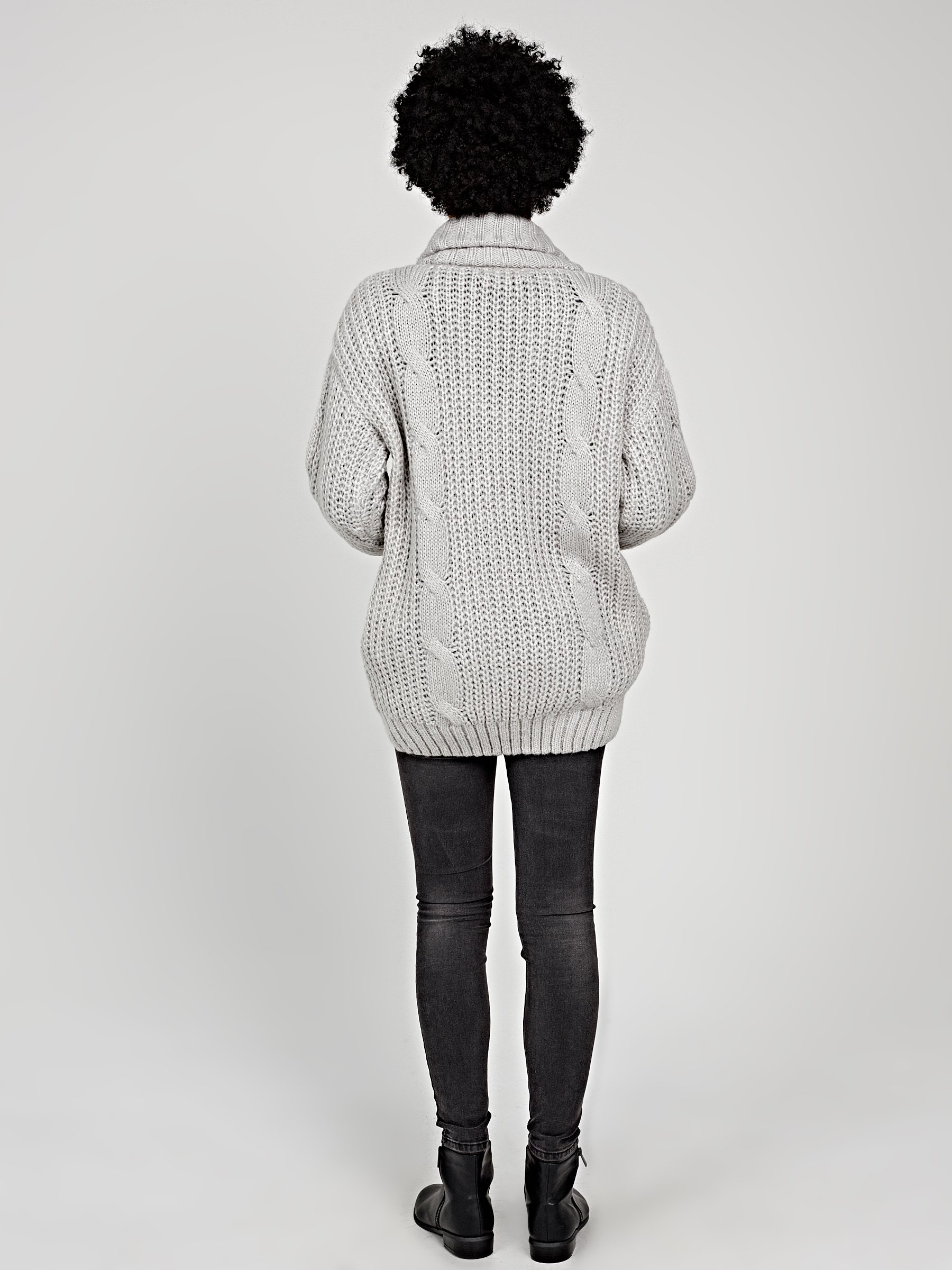 7,79 €, | OVERSIZED CABLE KNIT CARDIGAN