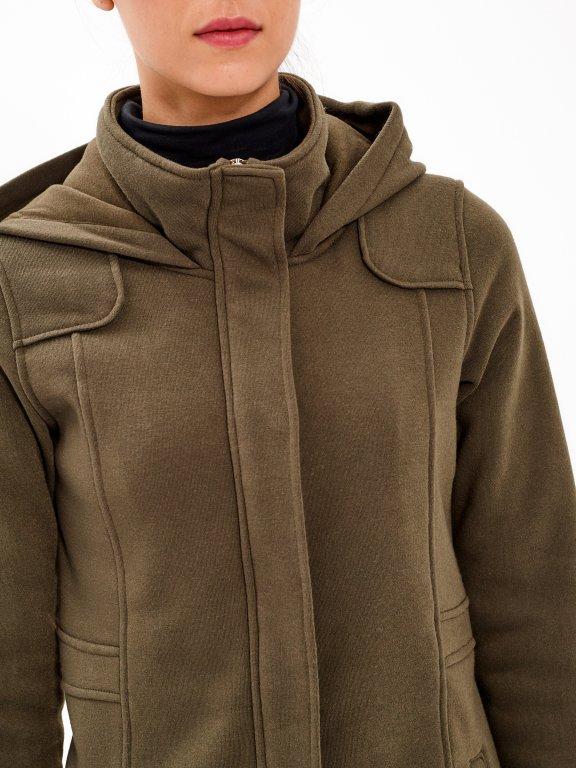 Longline jacket with hood