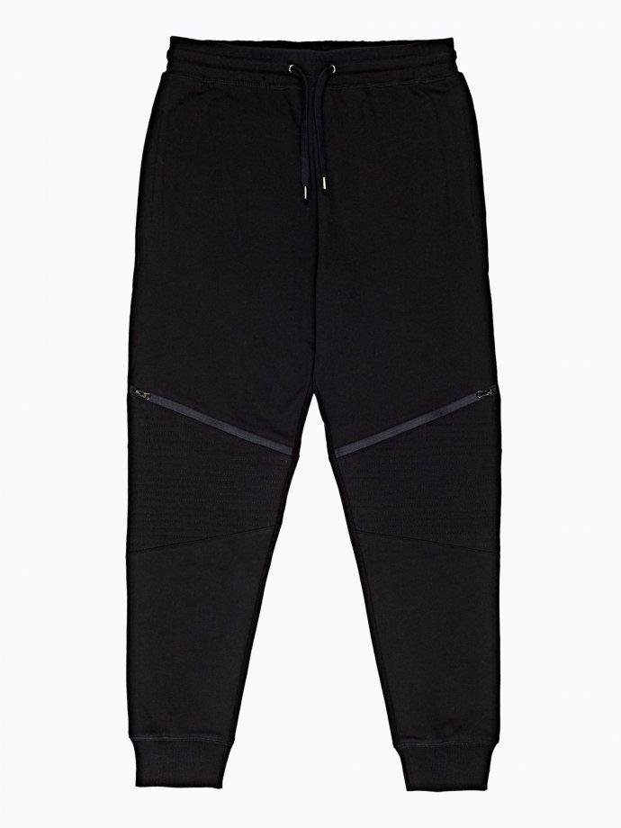 Biker sweatpants with zippers