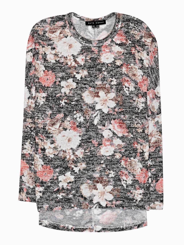 Oversized floral print jumper