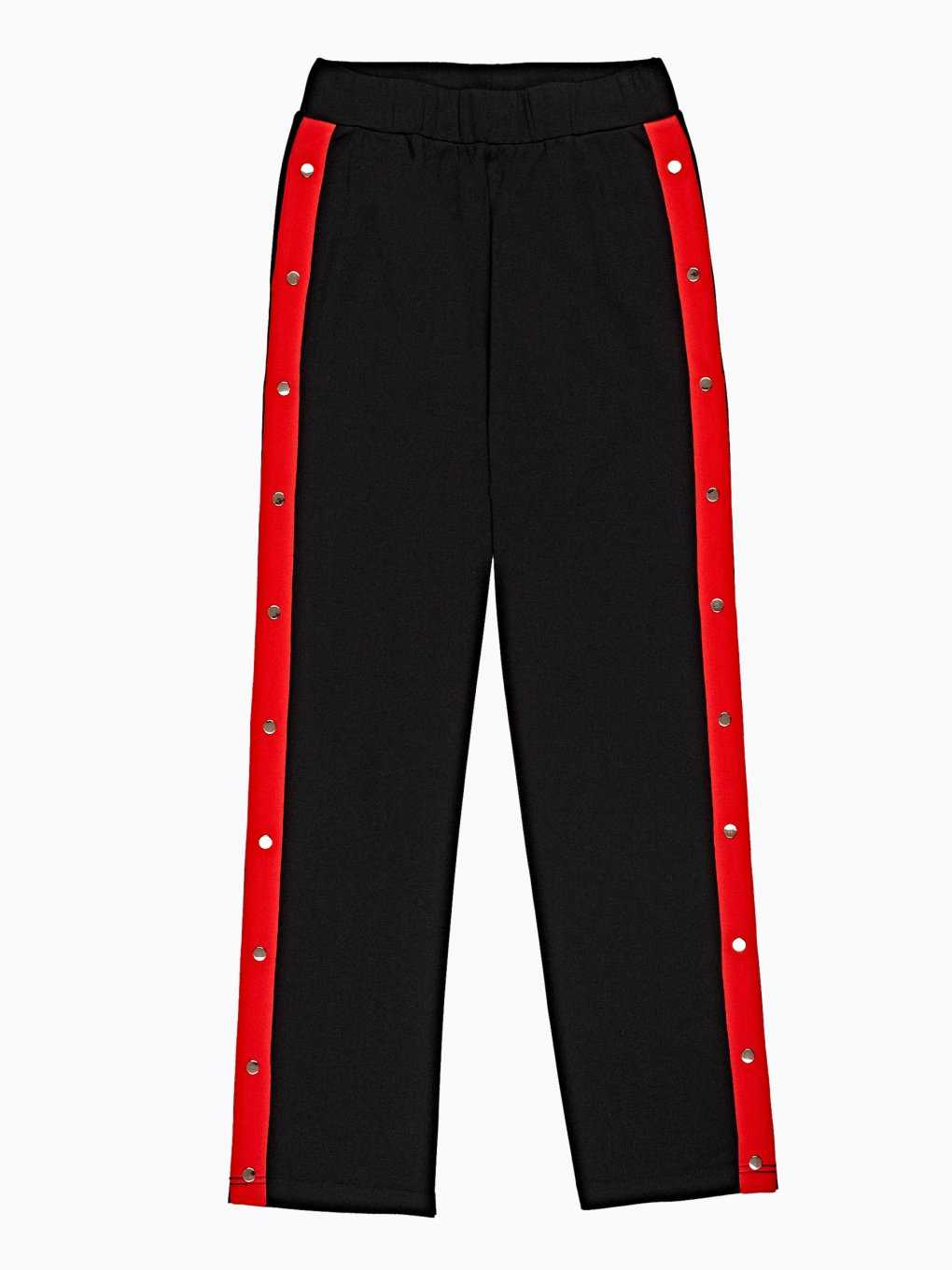 Wide leg trousers with decorative tape