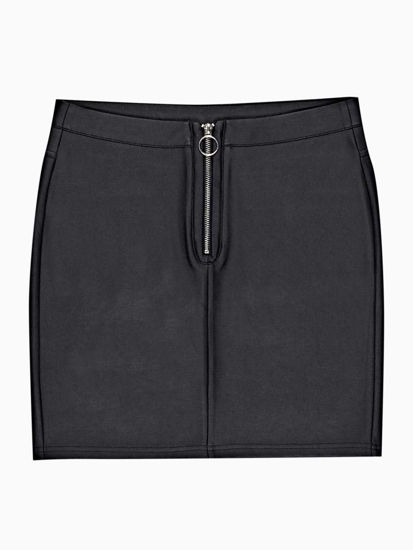 Faux leather mini bodycon skirt