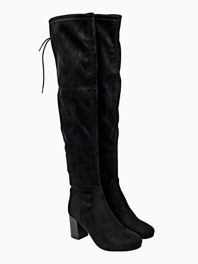 Block heel over the knee boots