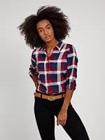 Károvaná viskózová košile