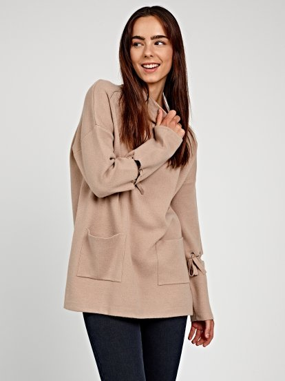 OVERSIZED JUMPER WITH LACING DETAIL