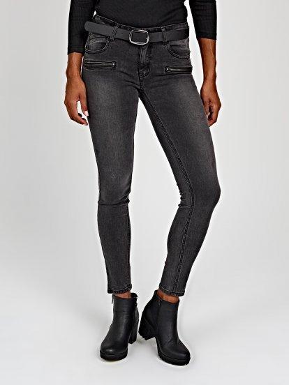 Skinny jeans in dark grey wash