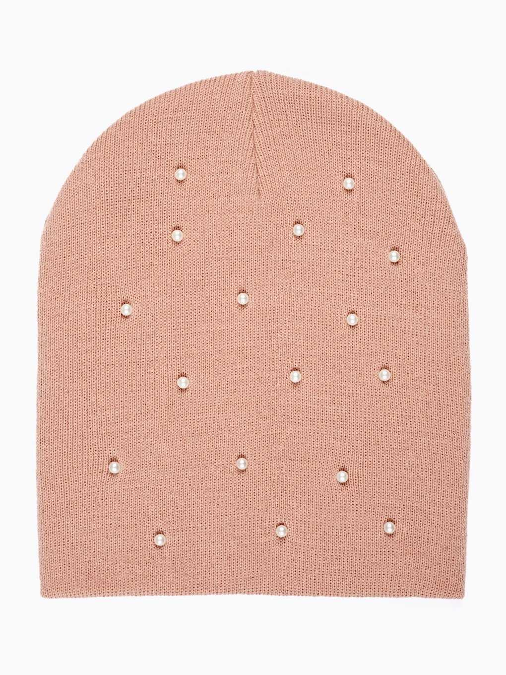 BEANIE WITH PEARLS