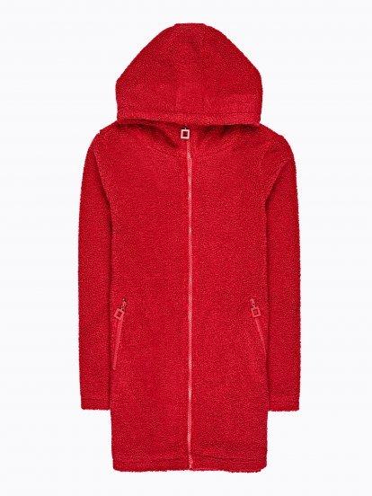 Chlpatý rozšírený kabát