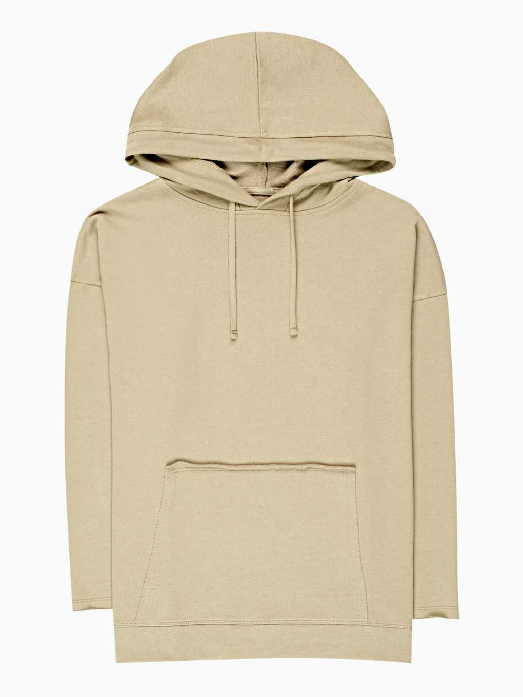 Boyfriend hoodie with raw details