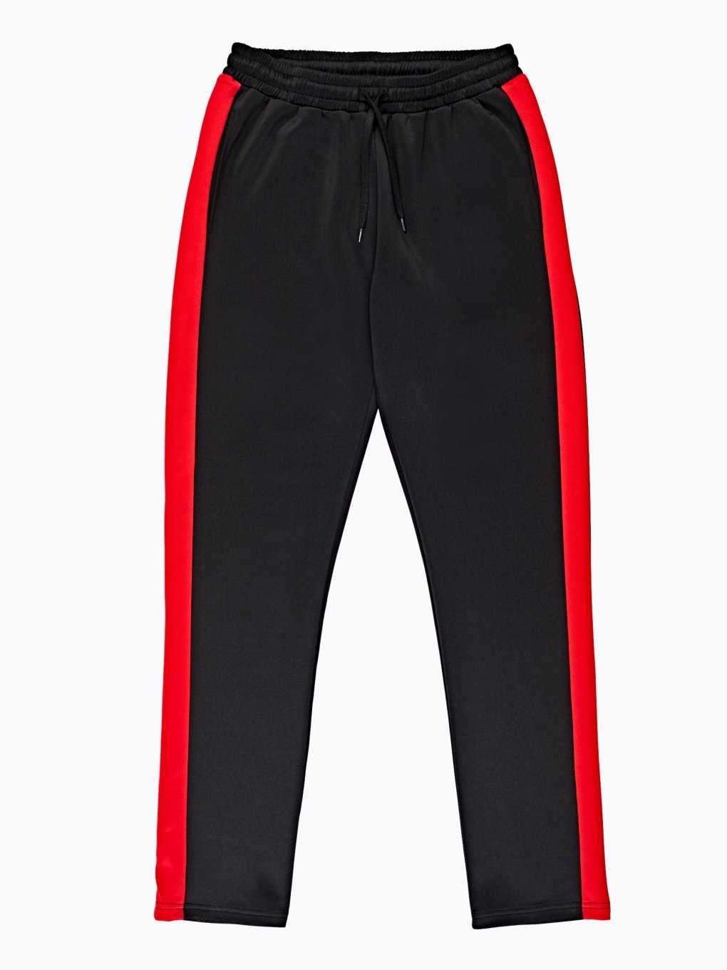 STRAIGHT SLIM TROUSERS WITH CONTRAST SIDE STRIPE