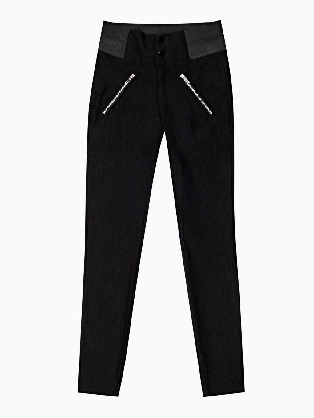 Stretch skinny high-waist trousers