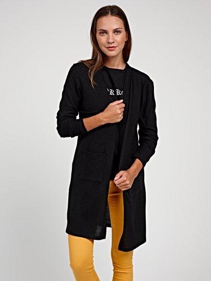 Longline knitted blazer