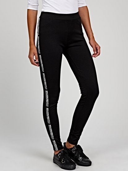 Legging with side tape