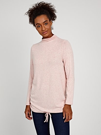 HIGH NECK COLLAR JUMPER