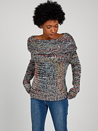 MULTICOLOUR ROLL NECK