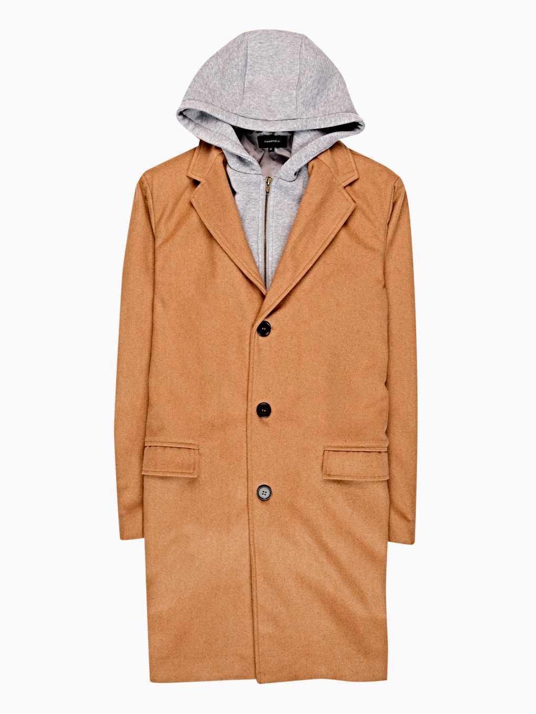 Longline coat with hood