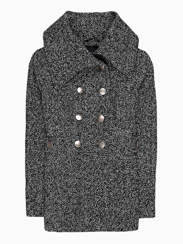 Basic pea coat in wool blend
