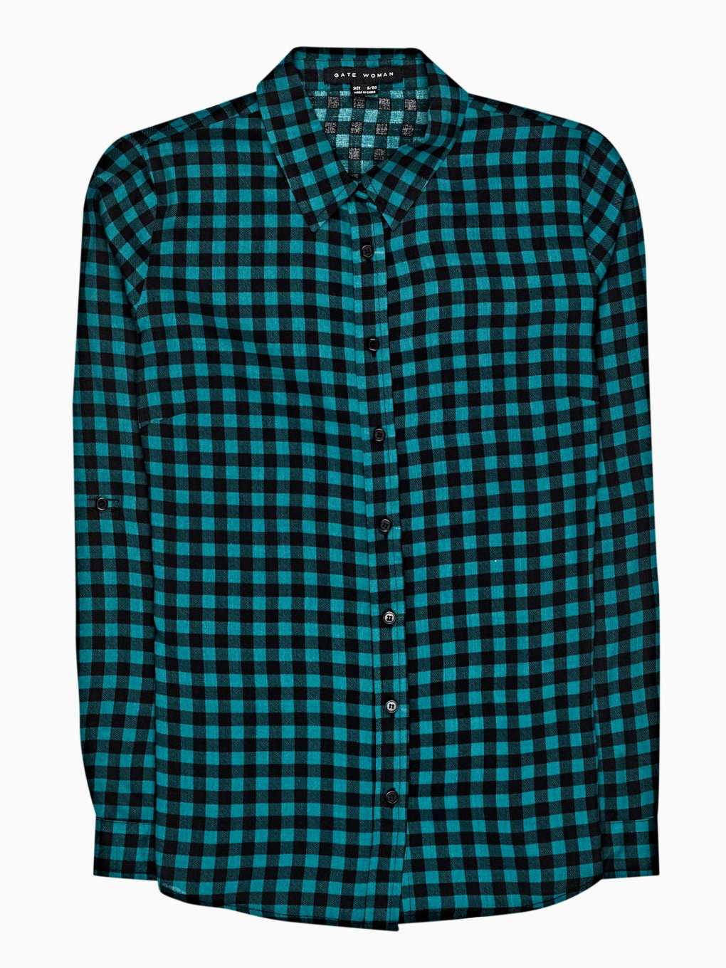 Plaid viscose shirt
