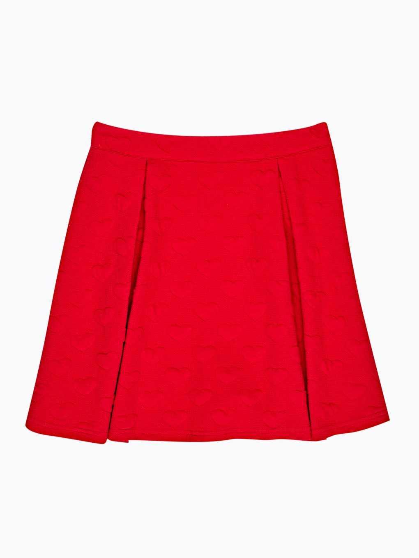 Hearts patterned skater skirt