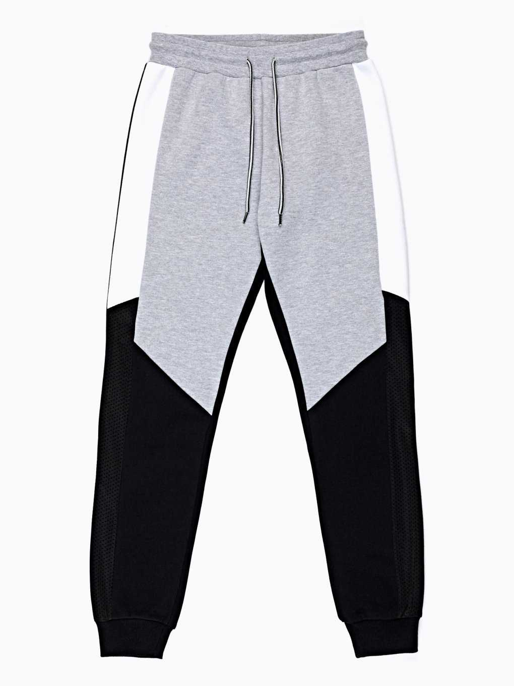 Combined paneled sweatpants