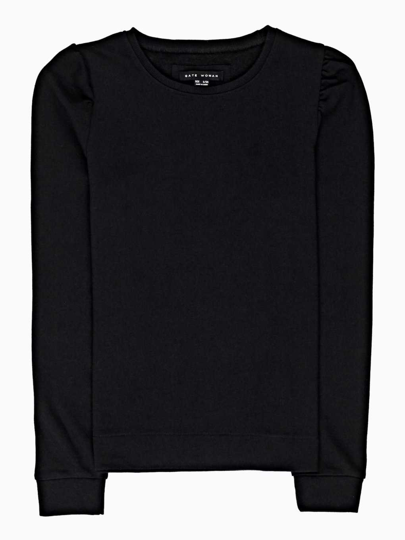 Frilled sleeve sweatshirt