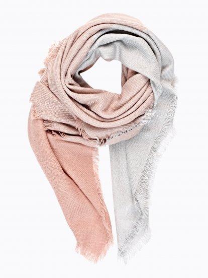 Dvojbarevný šátek