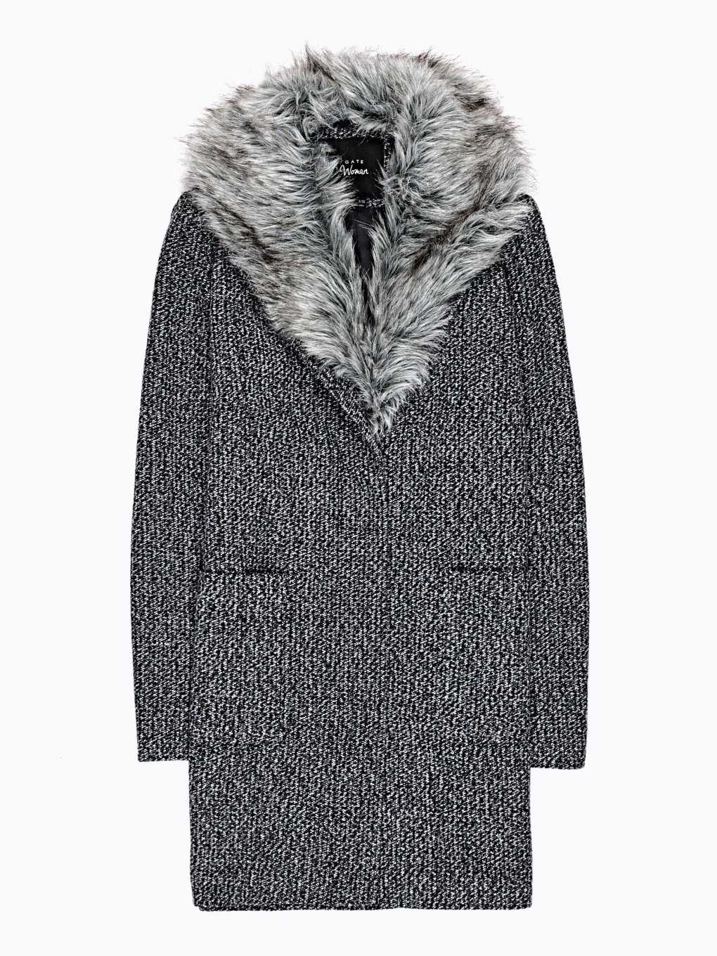 Plain coat in wool blend