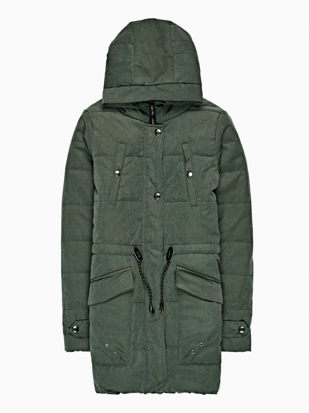 Pile lined padded jacket