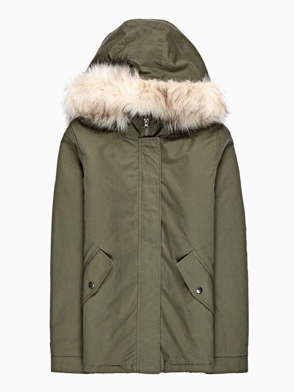PILE LINED COTTON PADDED JACKET