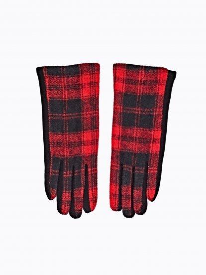 Plaid gloves
