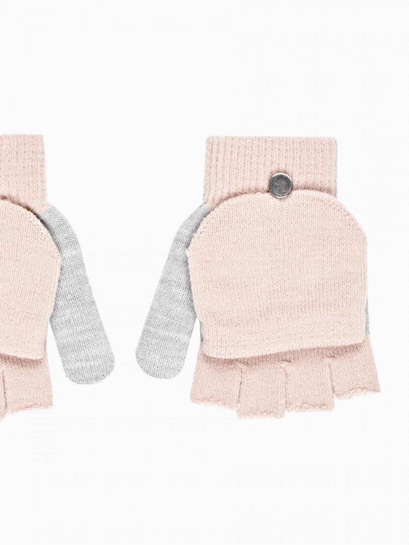 Two-tone fingerless gloves