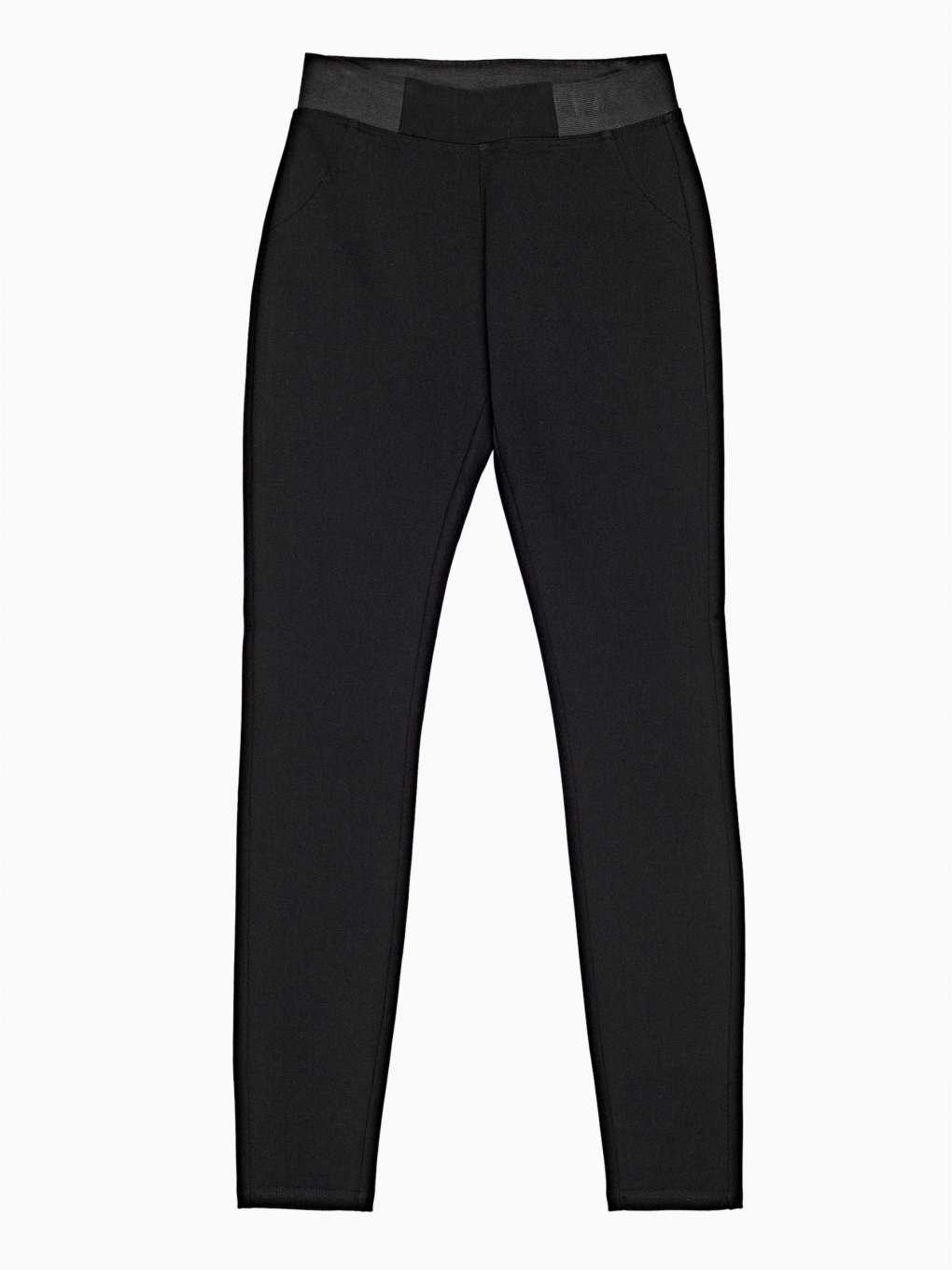 Basic knitted slim trousers
