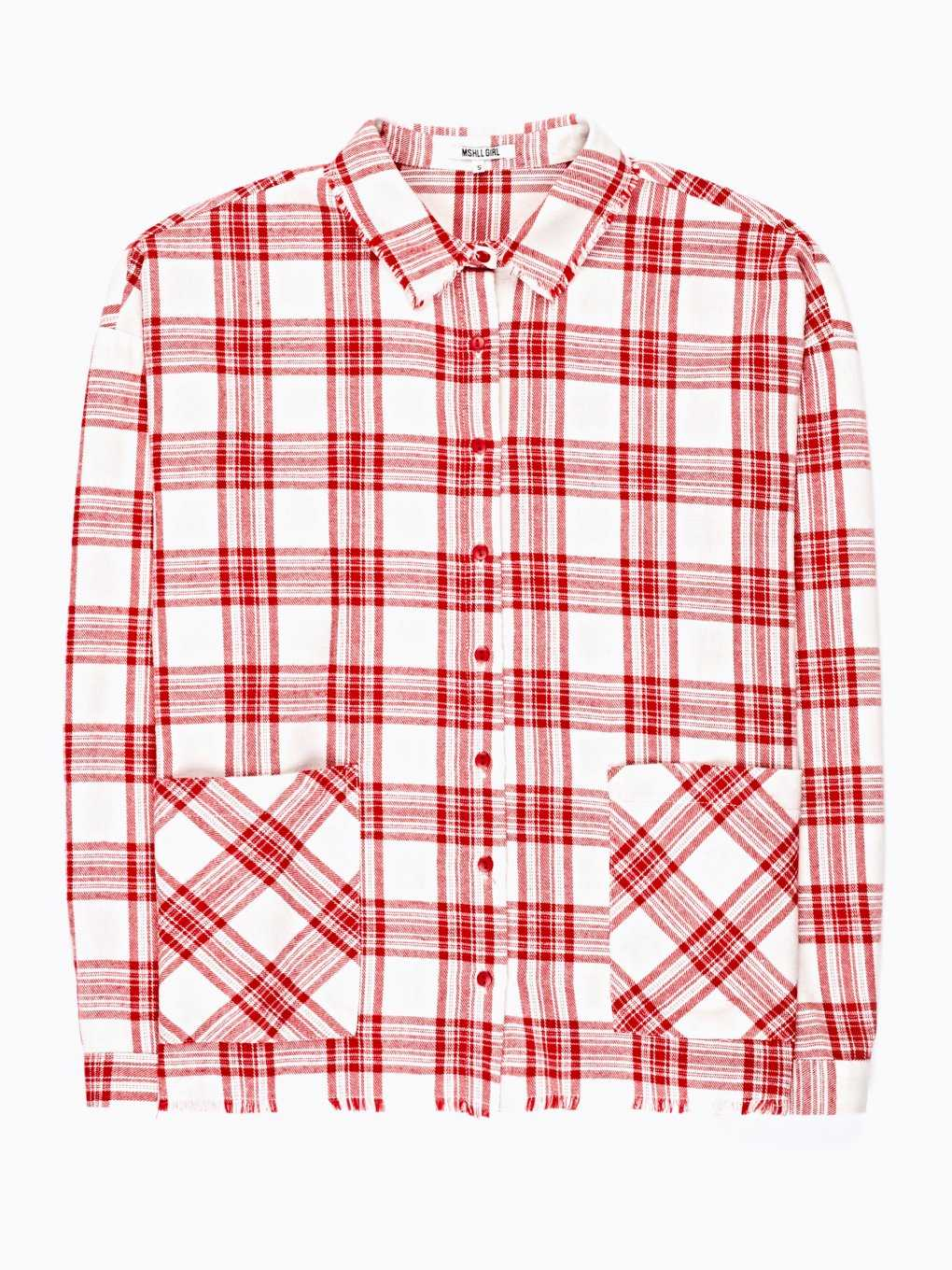 PLAID SHIRT WITH RAW EDGES