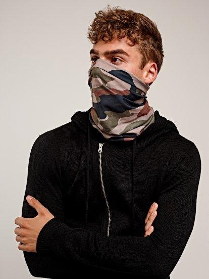 Printed snood scarf