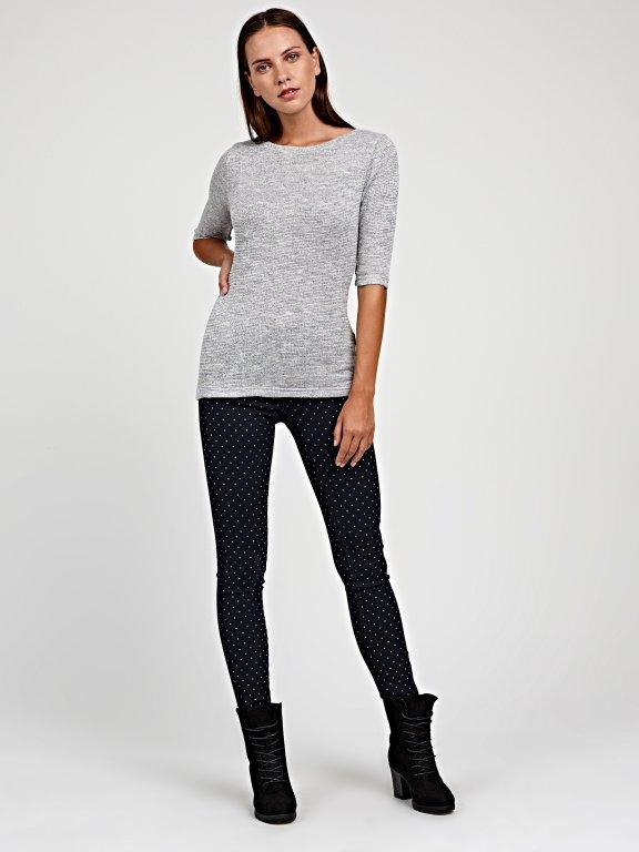 Polka dot print skinny jeans