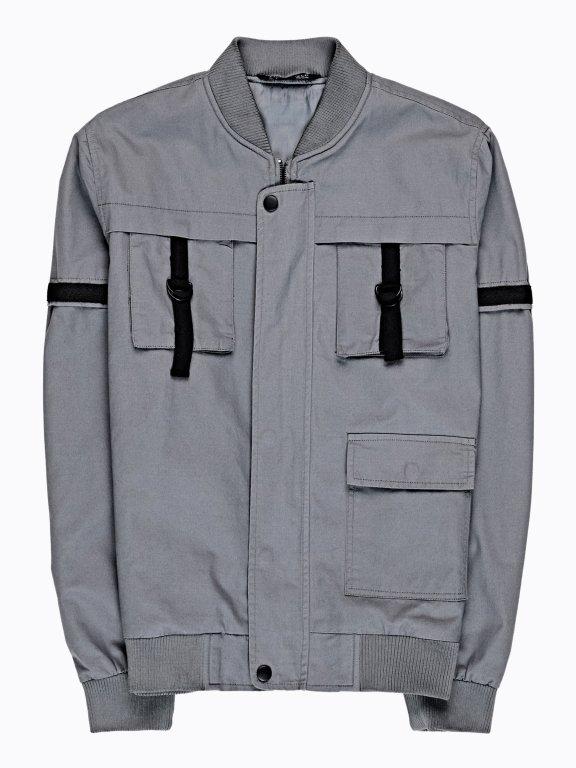 Parachute style bomber jacket