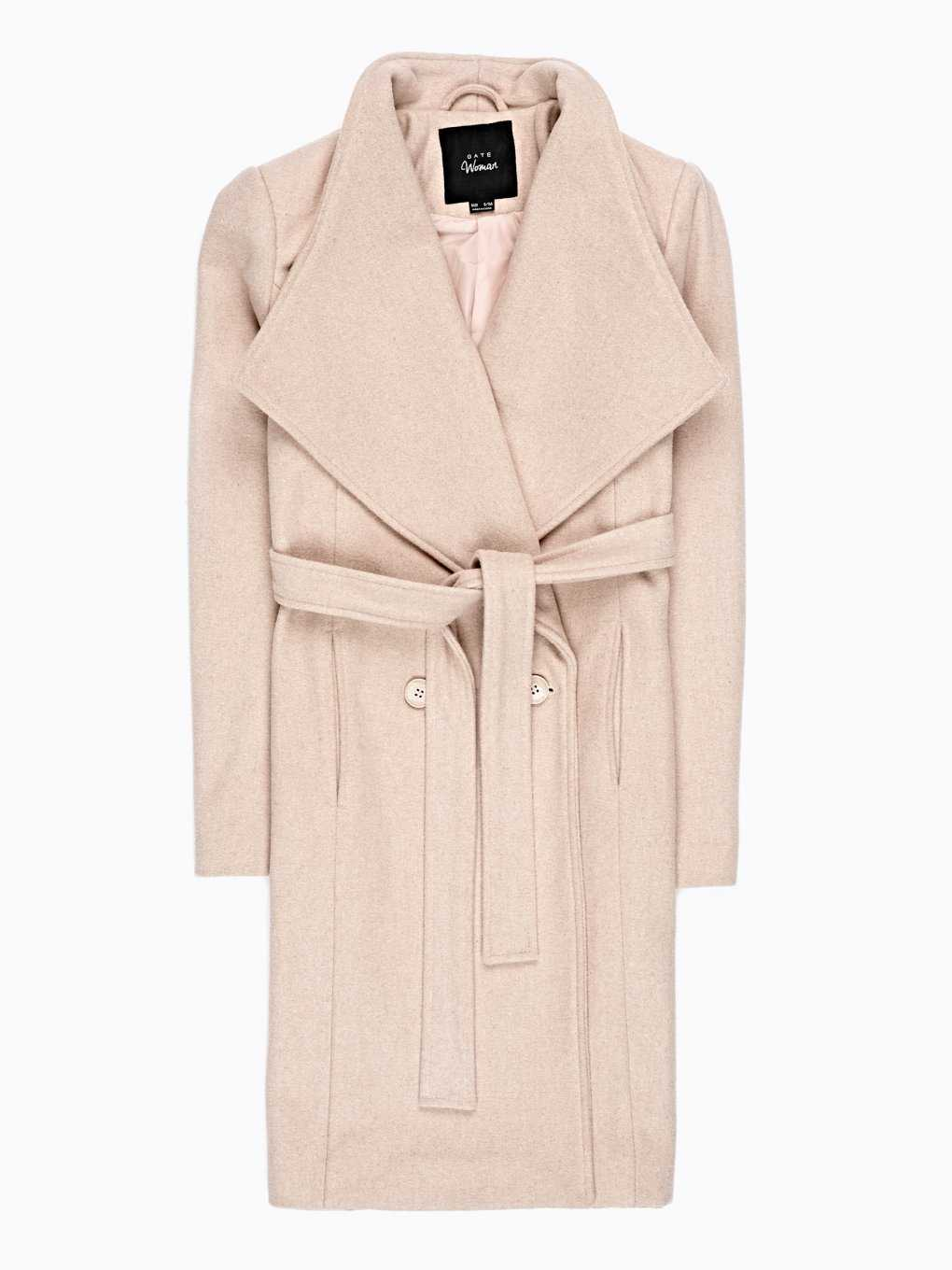 Duster coat in wool blend