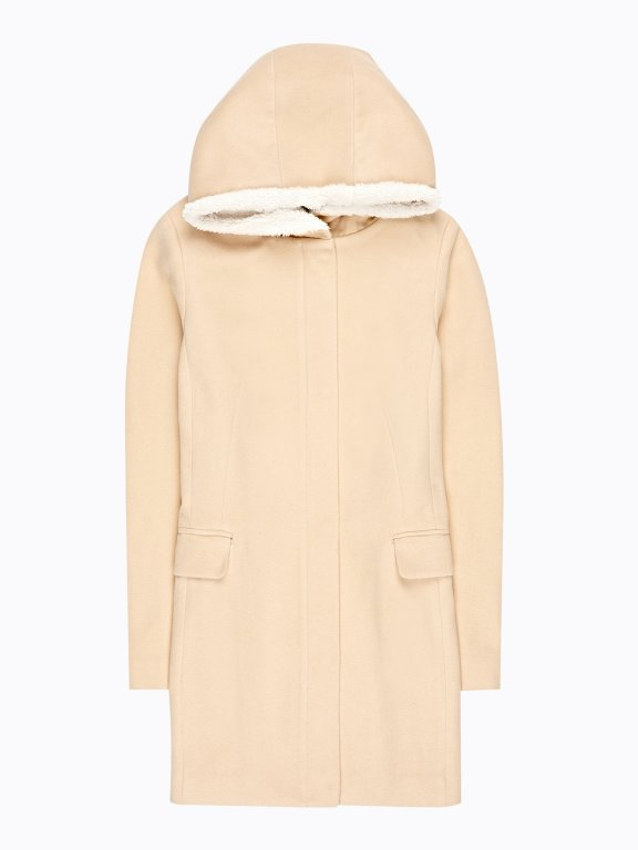PLAIN HOODED COAT