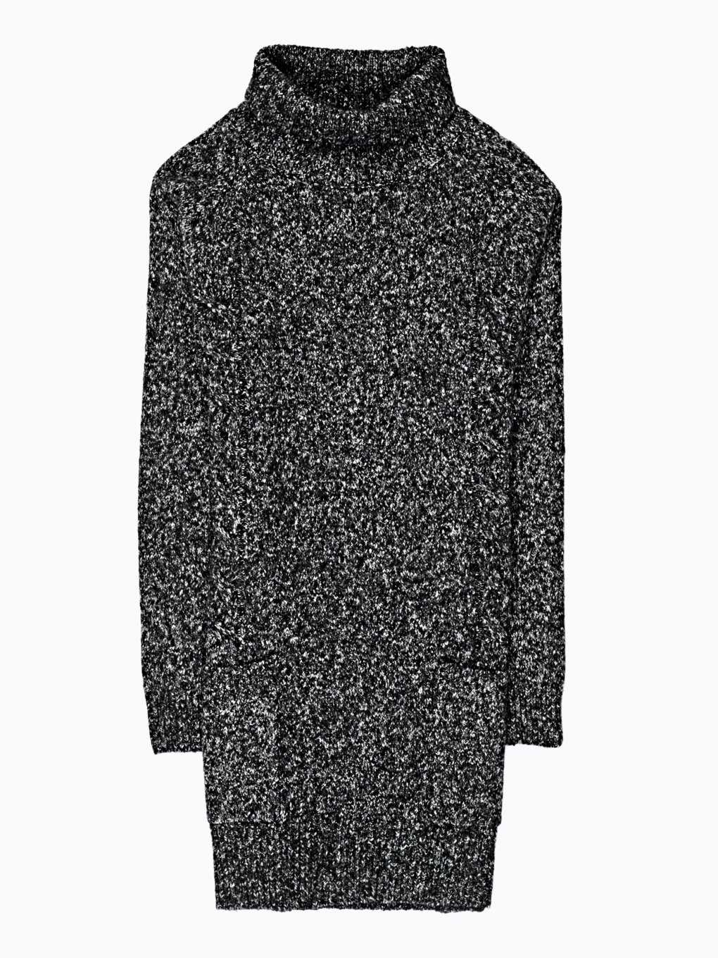 Longline turtle neck jumper with pockets