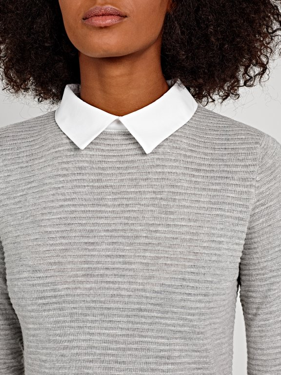 JUMPER WITH SHIRT DETAILS