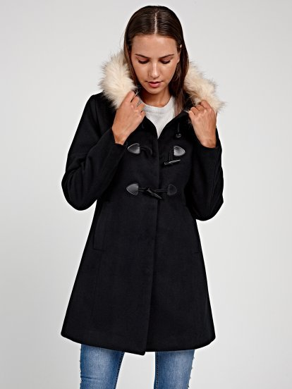 DUFFEL COAT WITH HOOD