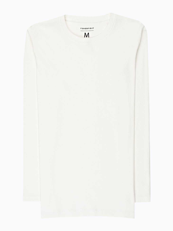 Základné rebrované tričko s dlhým rukávom