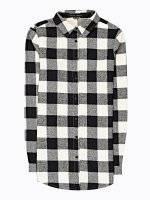 Dlouhá kostkovaná košile