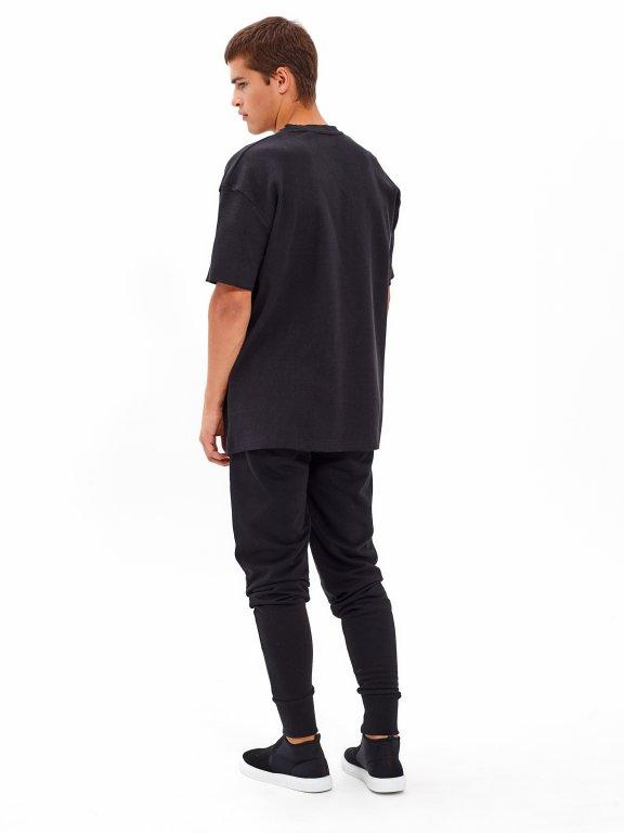 Oversized waflowa koszulka