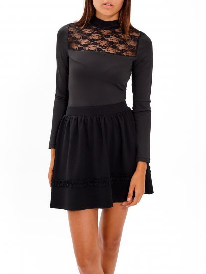 COMBINED BODYSUIT WITH LACE DETAIL